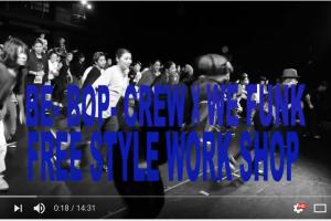 記事「Be-Bop-Crew × WEFUNK【LIVE WORKSHOP】動画公開!!」の画像