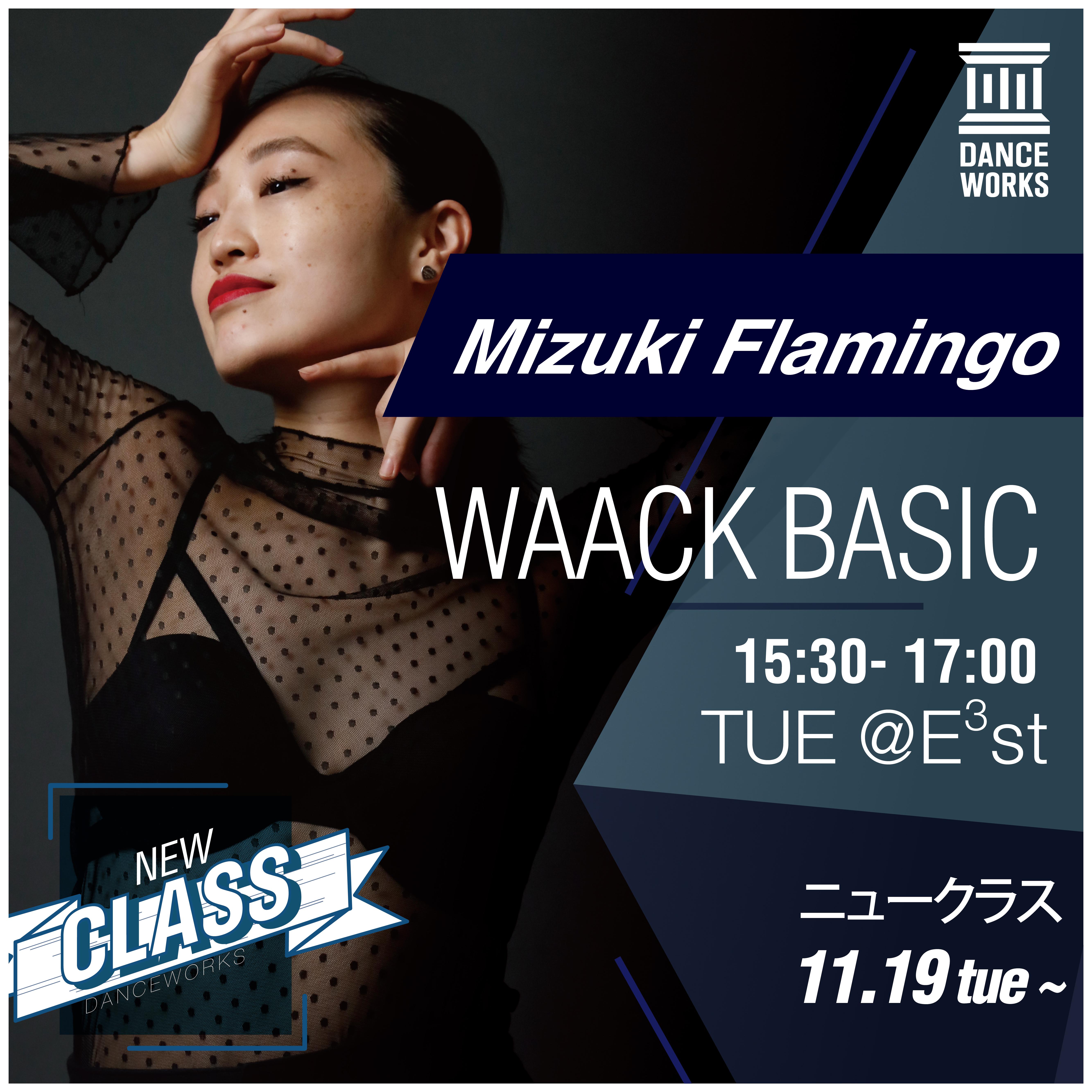 Dance Works、Mizuki Flamingo氏による「WAACK BASIC」クラスを開講<