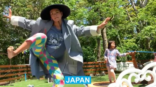 新型コロナ予防啓発:世界的ダンサーの菅原小春さんと森山開次さんが参加~ユニセフ・グローバルビデオリメイク版『パタパタ』完成