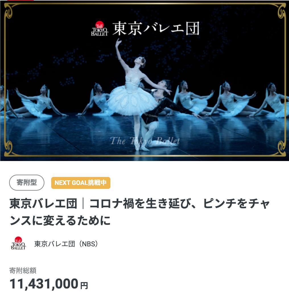 東京バレエ団がクラウドファンディングを実施中!